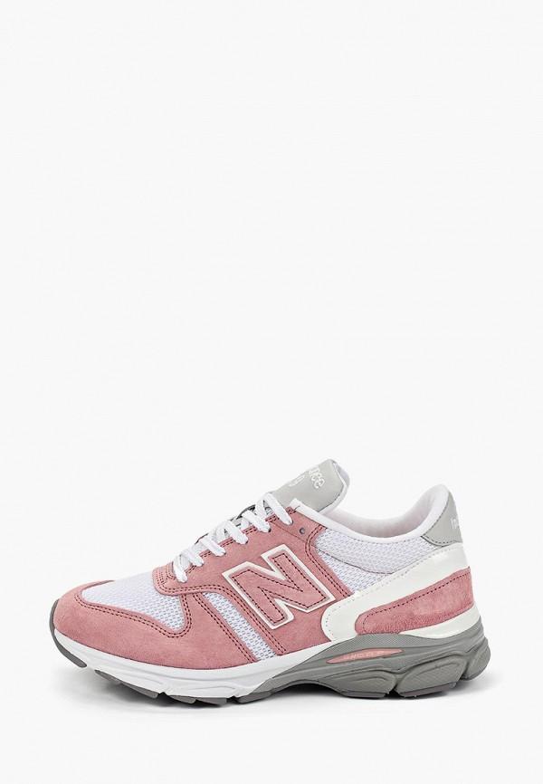Фото - женские кроссовки New Balance розового цвета