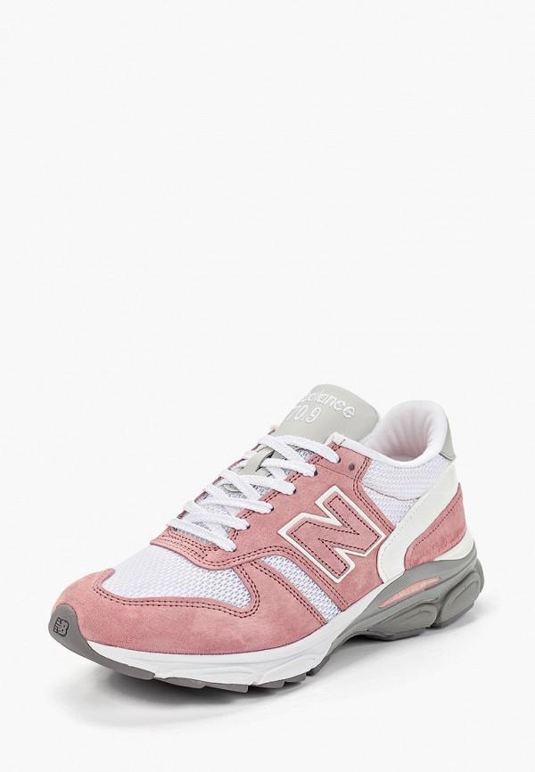 Фото 2 - женские кроссовки New Balance розового цвета