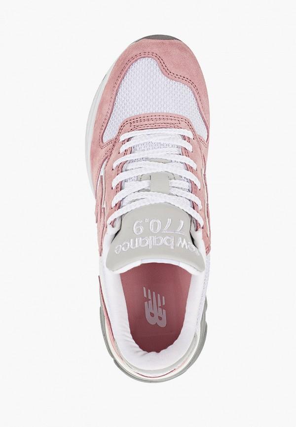 Фото 4 - женские кроссовки New Balance розового цвета