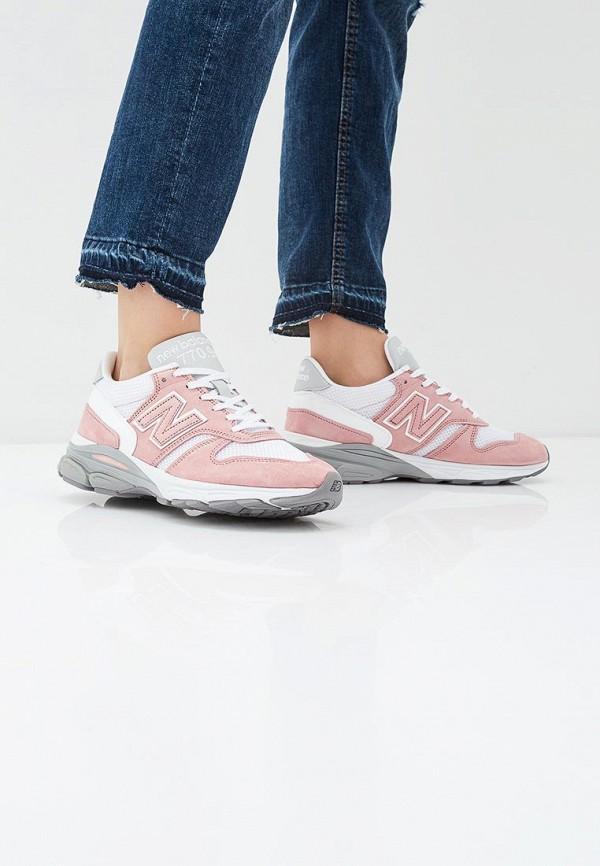 Фото 6 - женские кроссовки New Balance розового цвета