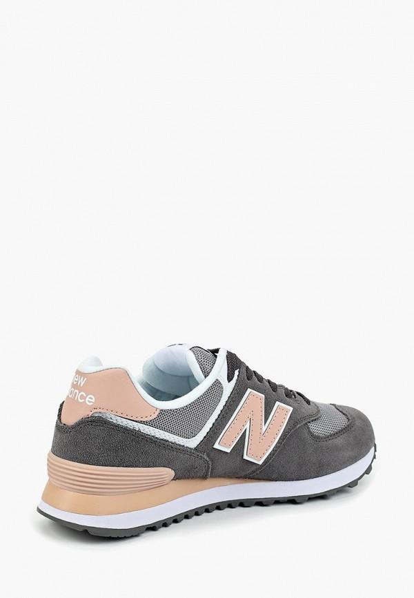 Фото 3 - женские кроссовки New Balance серого цвета