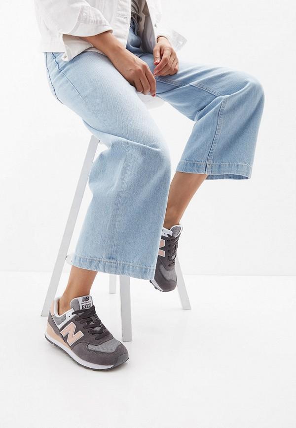 Фото 6 - женские кроссовки New Balance серого цвета