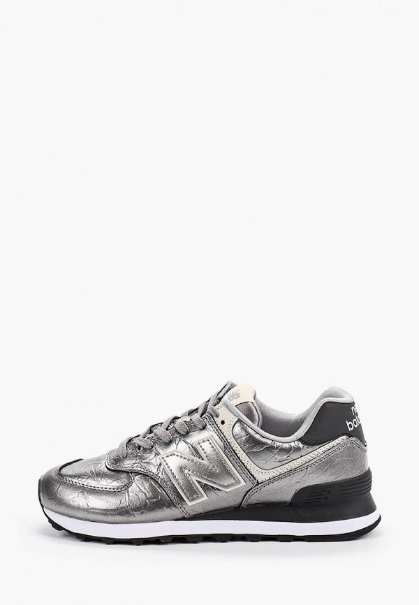 женские кроссовки new balance, серебряные