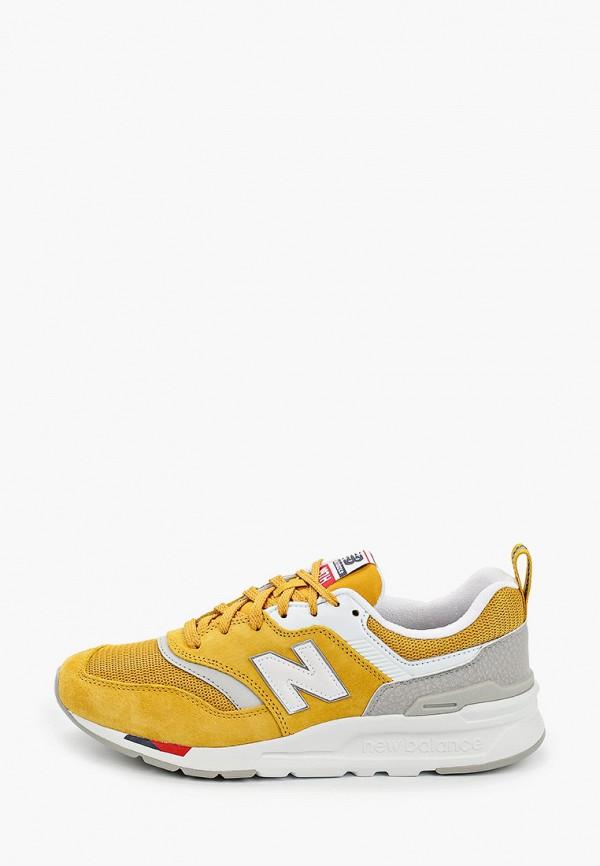 женские кроссовки new balance, желтые