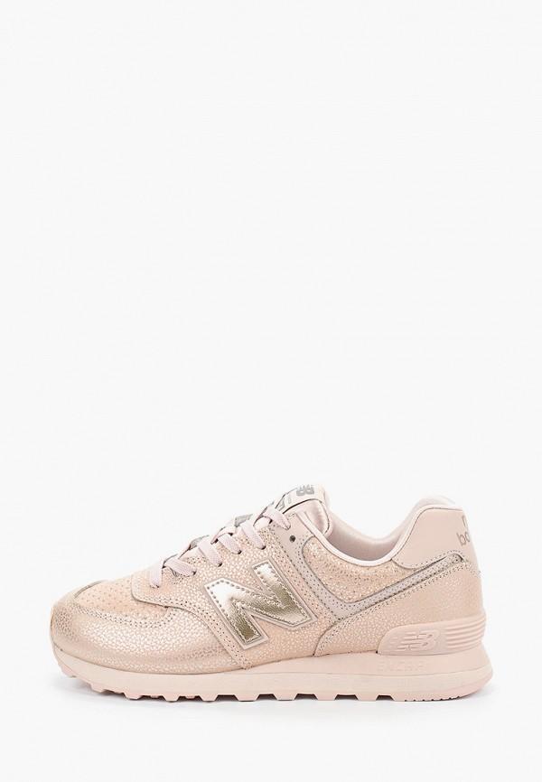 женские кроссовки new balance, розовые
