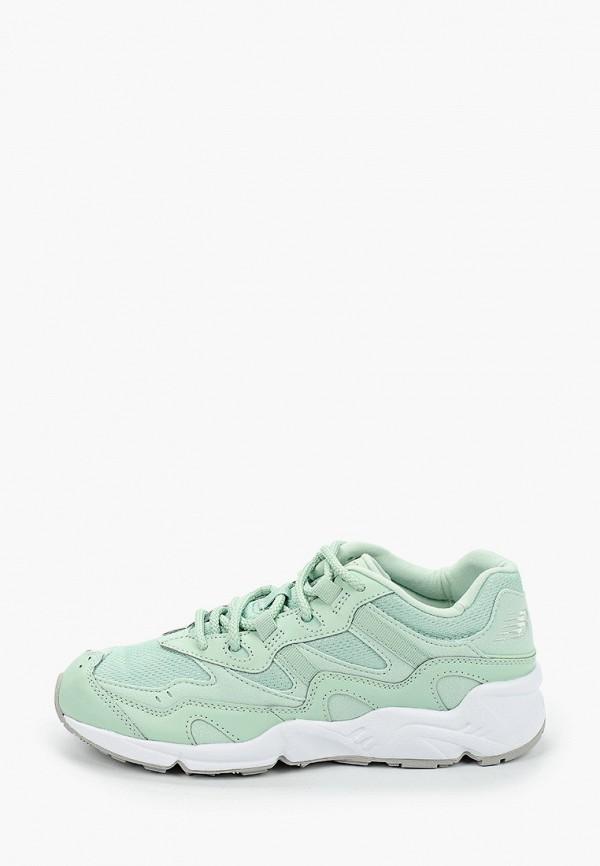 женские кроссовки new balance, зеленые