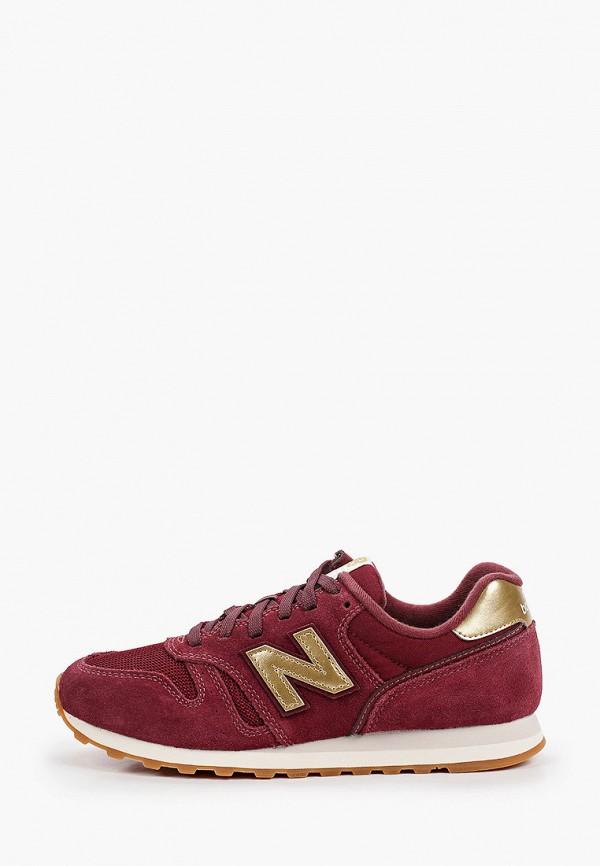 женские низкие кроссовки new balance, бордовые