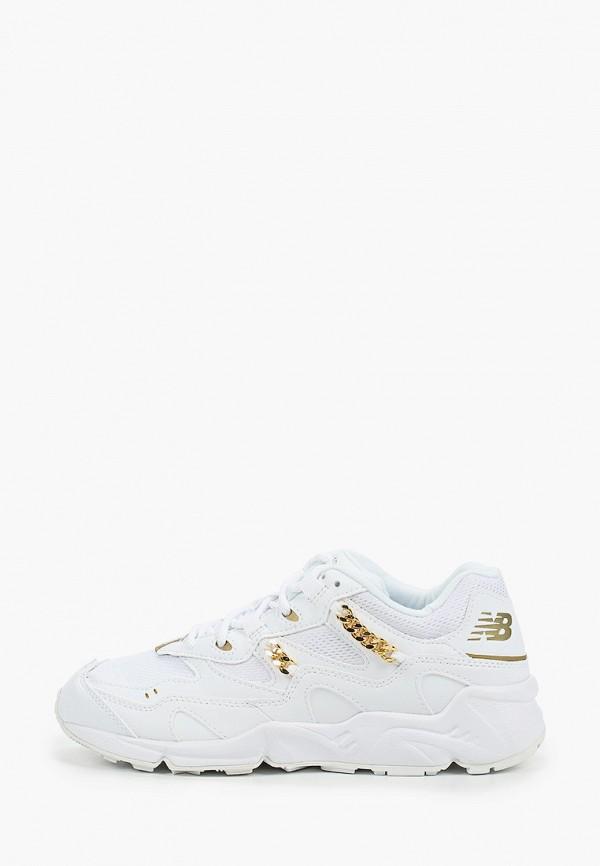 женские низкие кроссовки new balance, белые