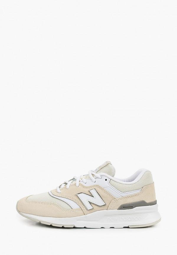 женские низкие кроссовки new balance, бежевые