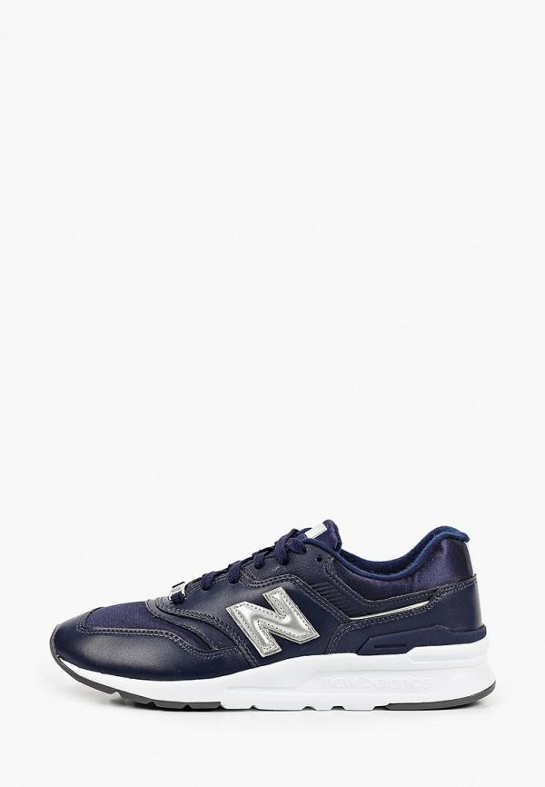 женские низкие кроссовки new balance, синие