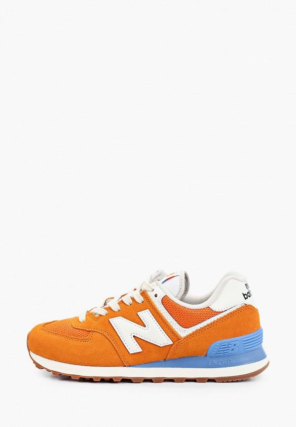 женские низкие кроссовки new balance, оранжевые