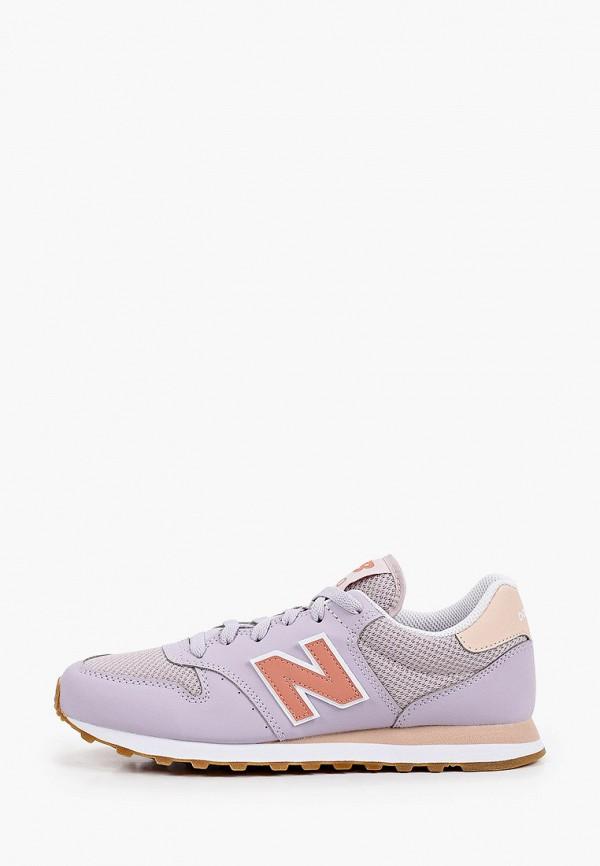 женские низкие кроссовки new balance, фиолетовые