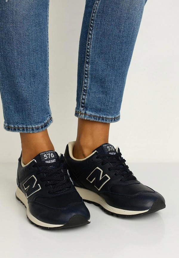 Фото 10 - женские кроссовки New Balance синего цвета