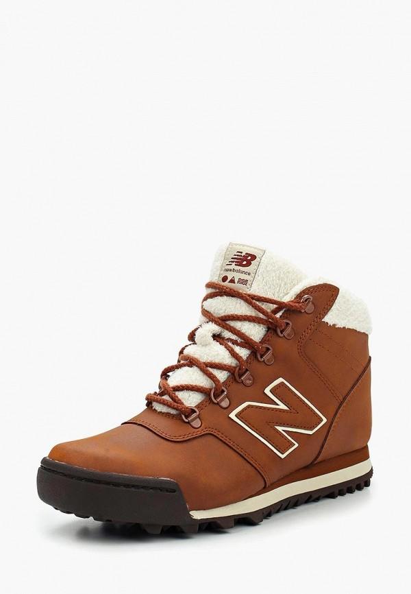 женские ботинки new balance, коричневые