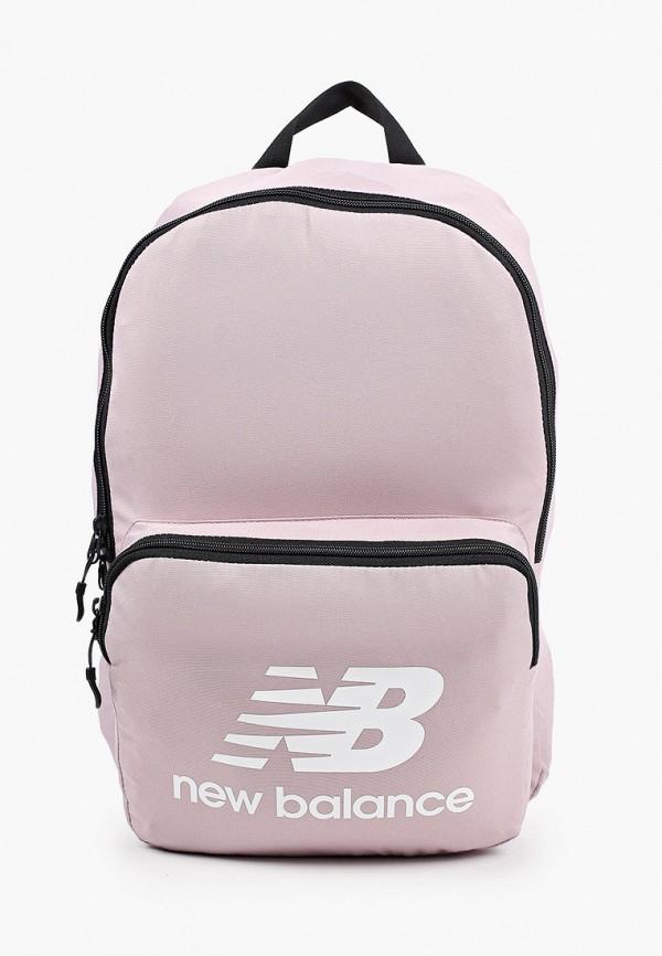 женский рюкзак new balance, розовый