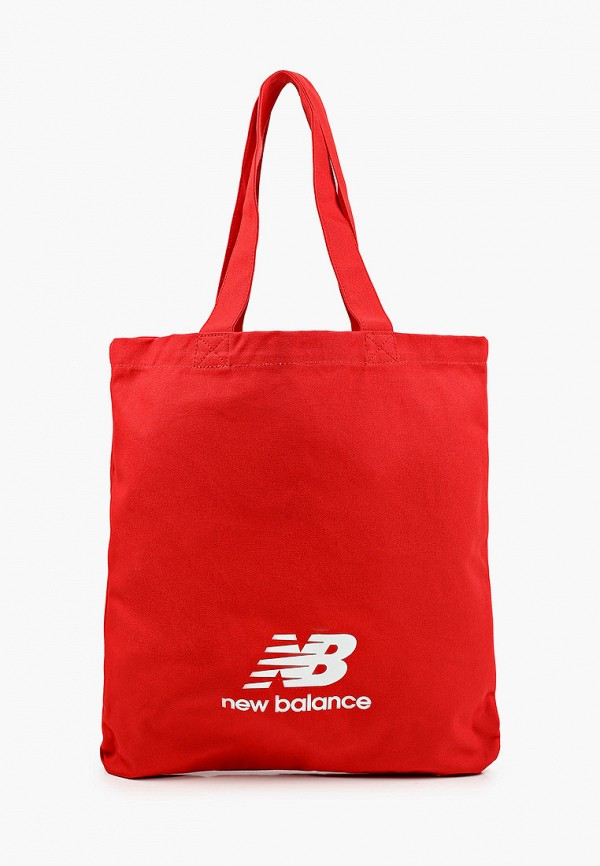 женская сумка-шоперы new balance, красная