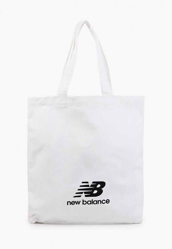 женская сумка-шоперы new balance, белая