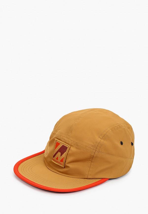 мужская бейсболка new balance, коричневая