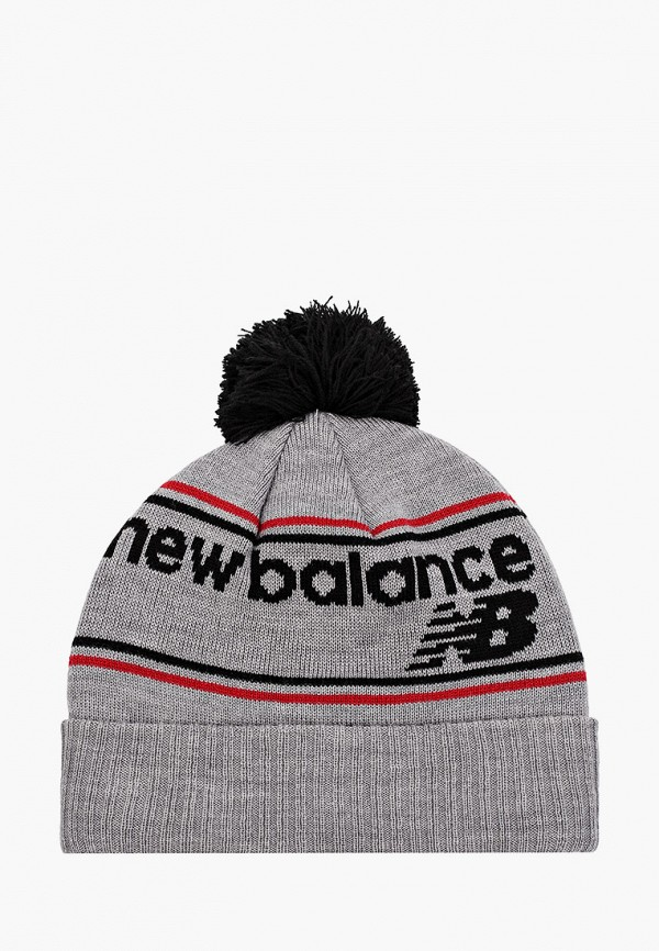 мужская шапка new balance, серая