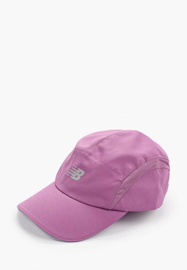 женская бейсболка new balance, фиолетовая