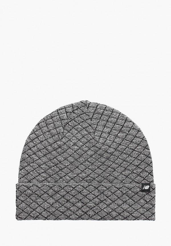 женская шапка new balance, серая