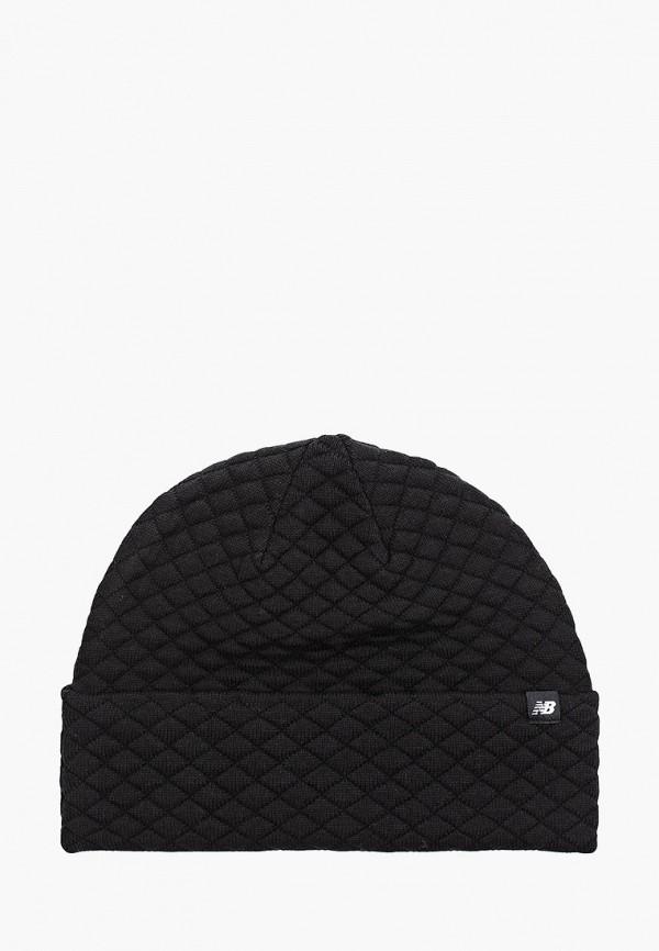 женская шапка new balance, черная