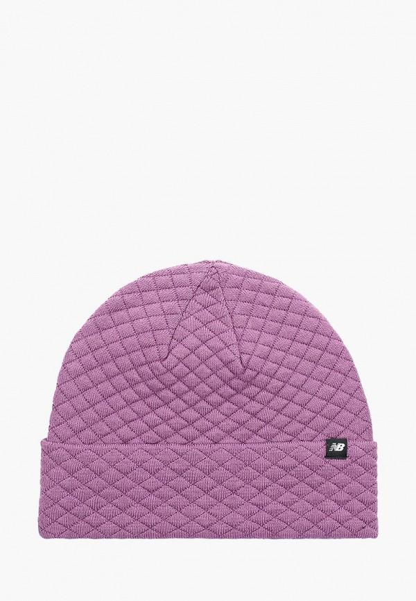 женская шапка new balance, фиолетовая