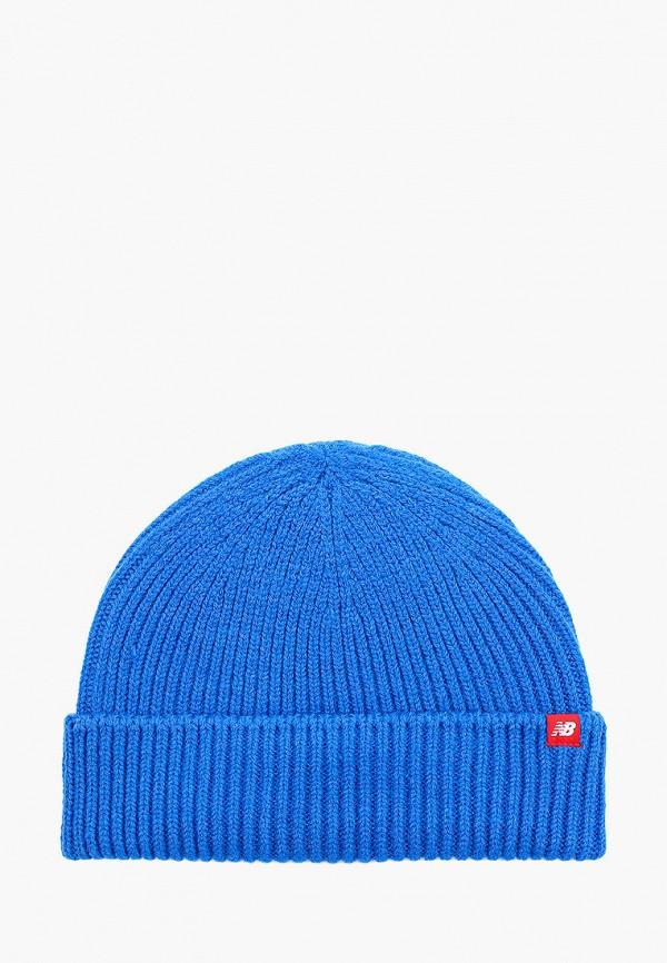 женская шапка new balance, синяя