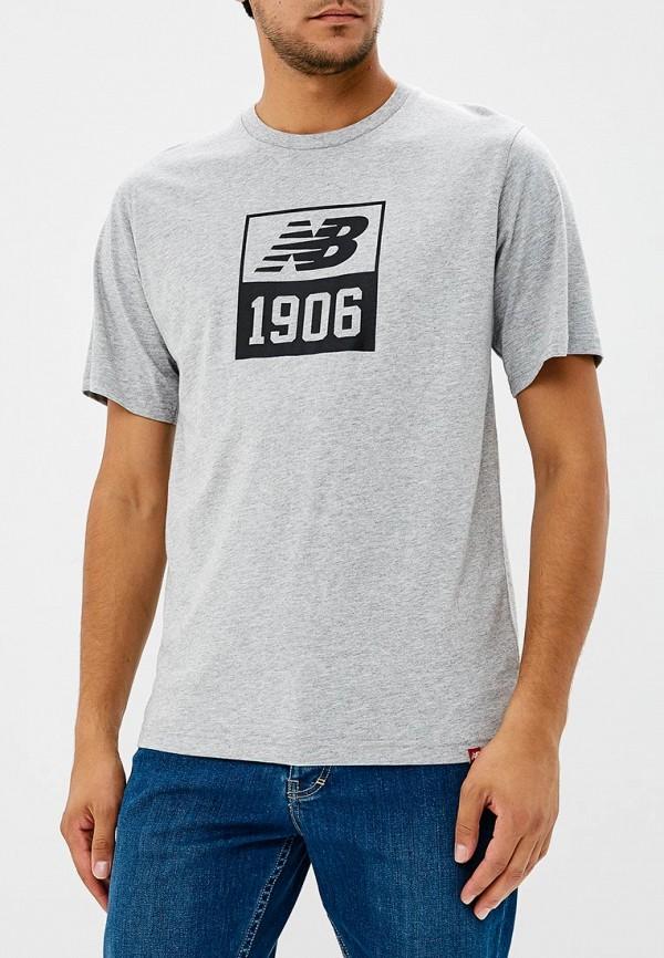 Купить Футболка New Balance, ESSENTIALS 1906 TEE, ne007embpxj0, серый, Осень-зима 2018/2019