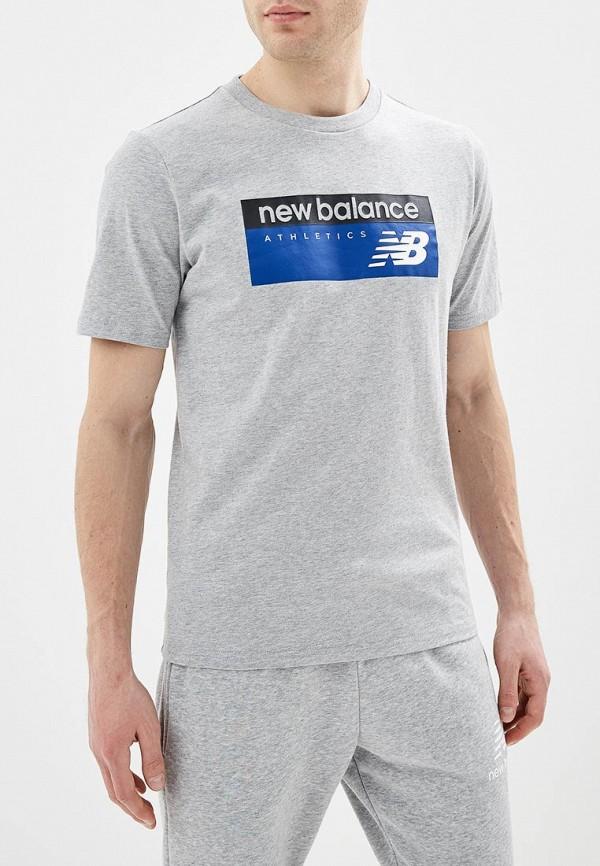 Купить Футболка New Balance, ne007emeaxp6, серый, Весна-лето 2019