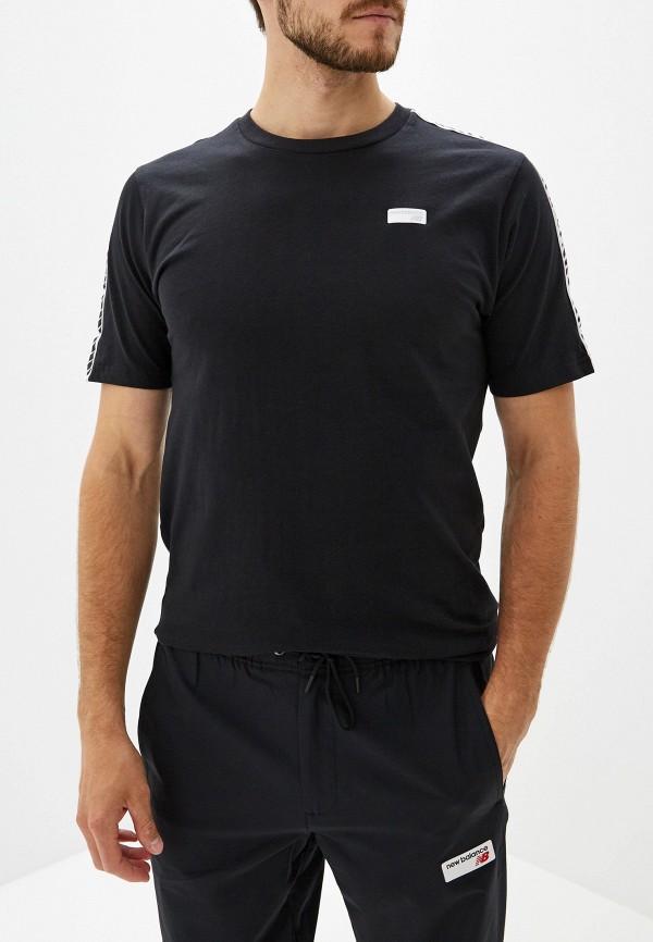 мужская спортивные футболка new balance, черная
