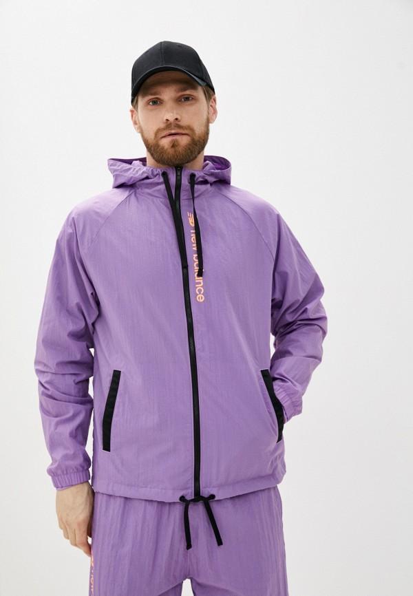 мужская ветровка new balance, фиолетовая