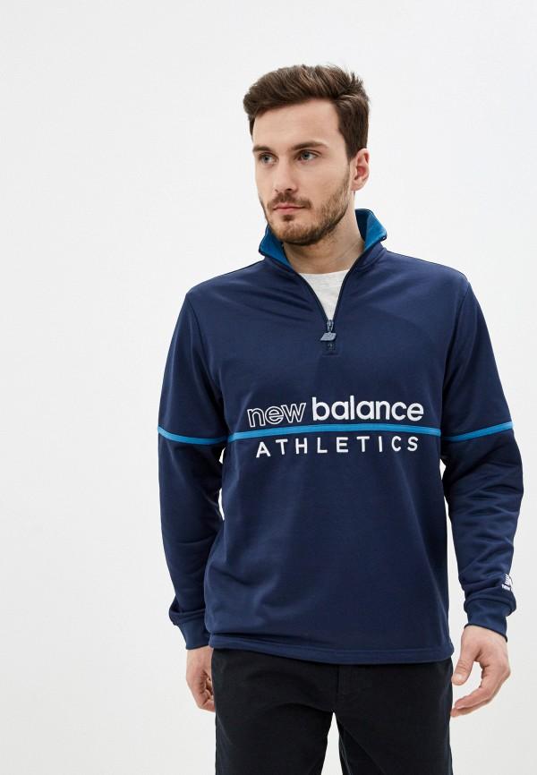 мужская олимпийка new balance, синяя