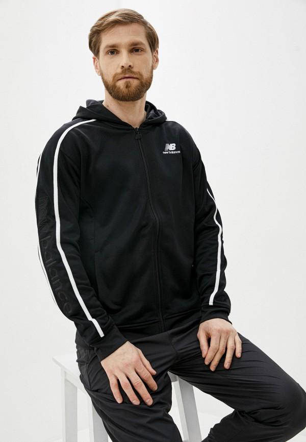 мужская спортивные толстовка new balance, черная