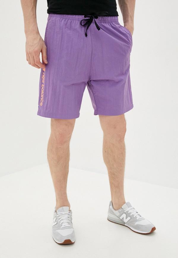 мужские шорты new balance, фиолетовые