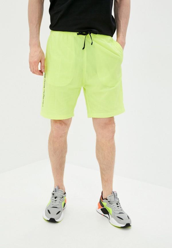 мужские спортивные шорты new balance, желтые