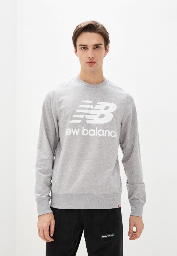 мужской свитшот new balance, серый