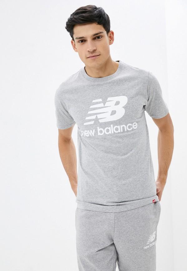 мужская спортивные футболка new balance, серая