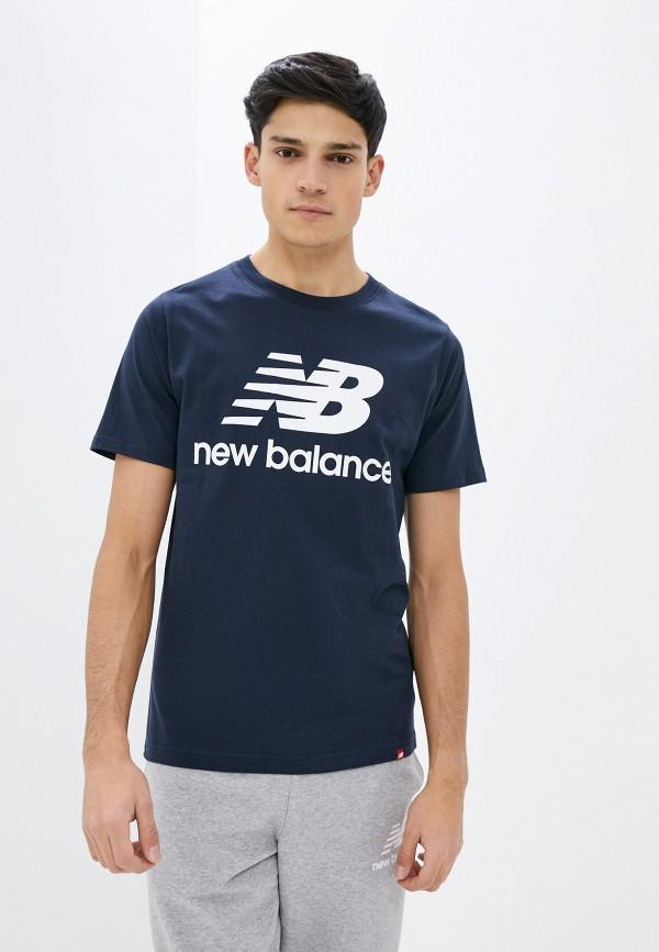 мужская спортивные футболка new balance, синяя