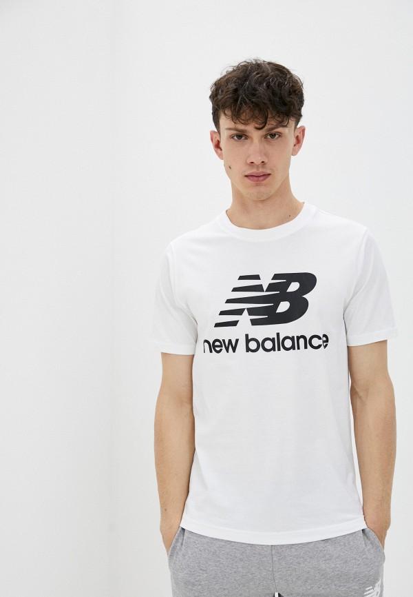мужская спортивные футболка new balance, белая