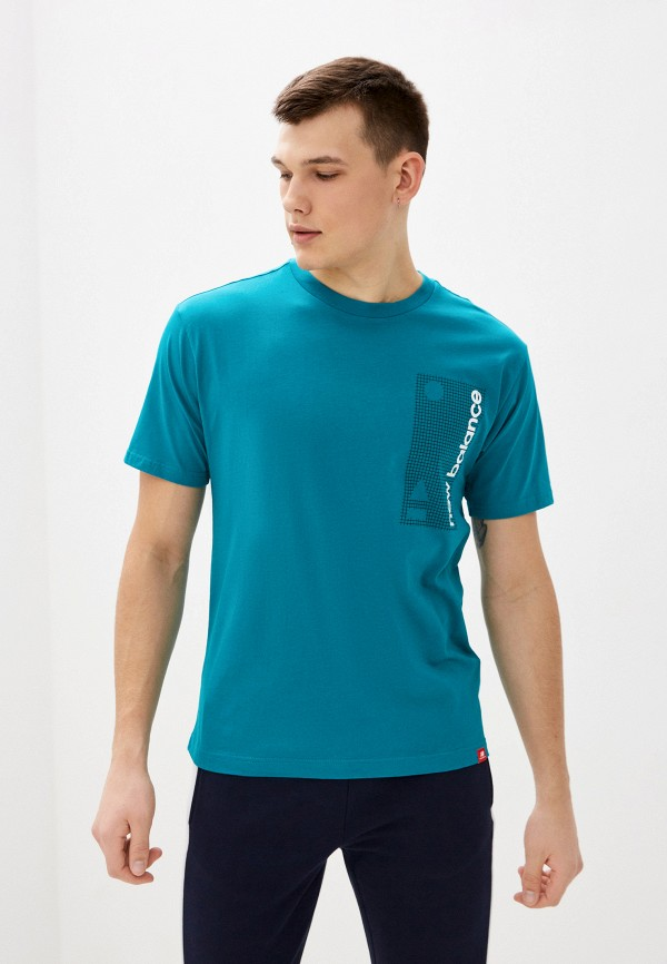 мужская спортивные футболка new balance, зеленая