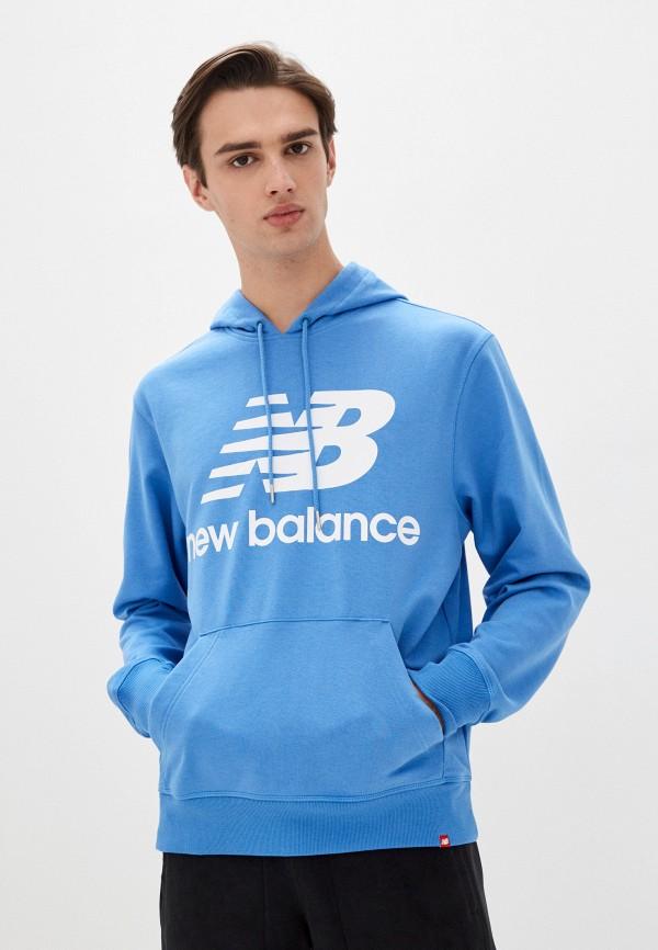 мужские худи new balance, голубые