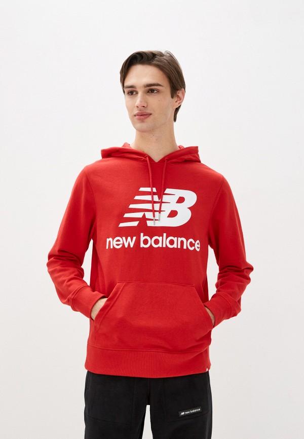 мужские худи new balance, красные