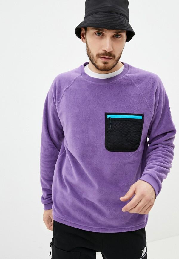 мужской спортивные свитшот new balance, фиолетовый