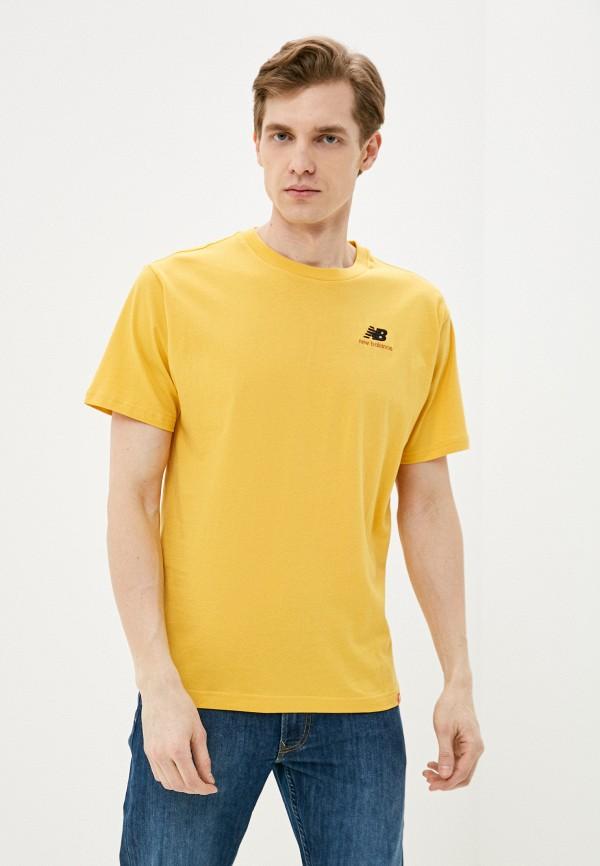 мужская спортивные футболка new balance, желтая