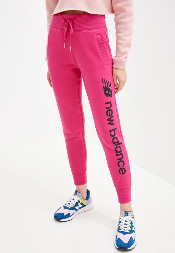 женские спортивные спортивные брюки new balance, розовые