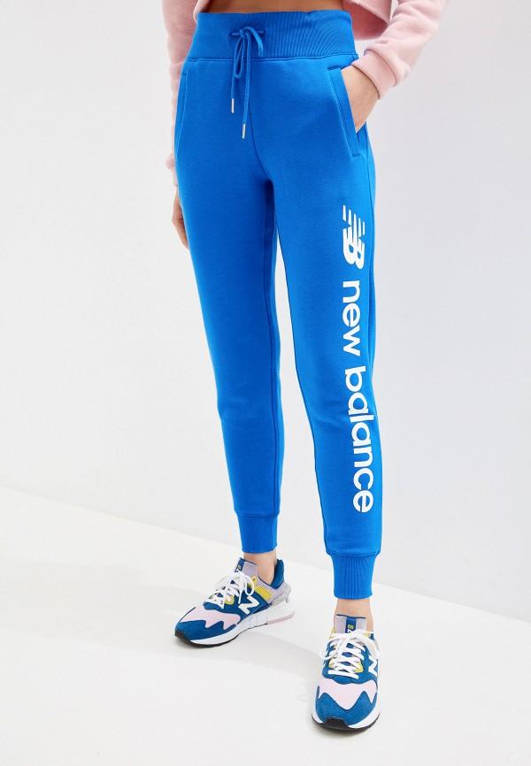 женские спортивные спортивные брюки new balance, синие