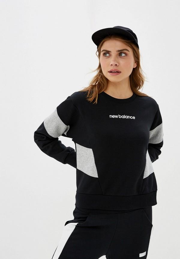 женский свитшот new balance, черный