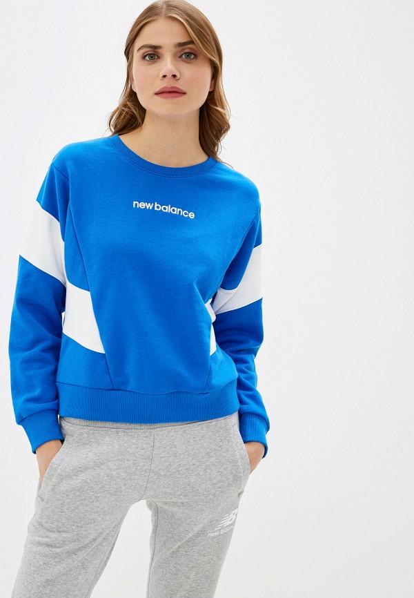 женский свитшот new balance, синий