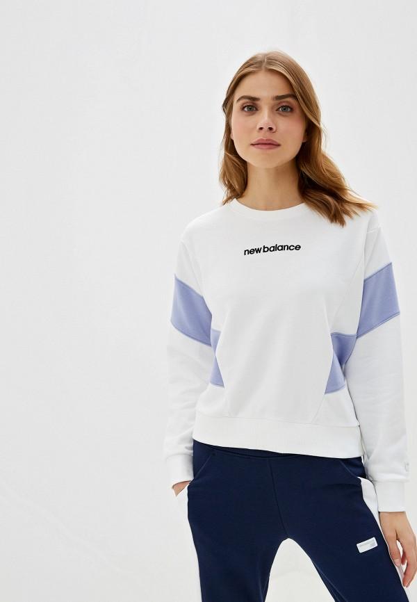 женский свитшот new balance, белый